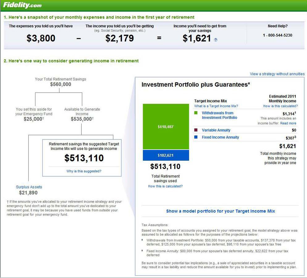 Fidelity's Retirement Calculator