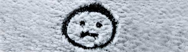 frownie face in snow