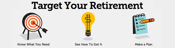 Icon: target your retirement