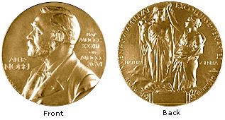 Nobel Prize medal front and back