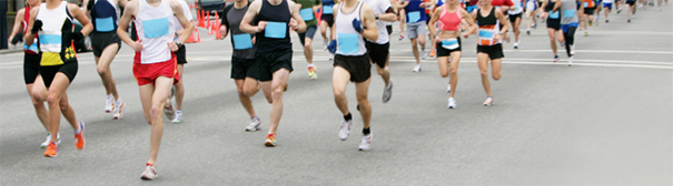 Photo of bottom half of runners