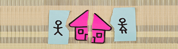 Graphic: Split in half pink house