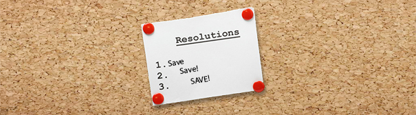 New Year's Resolution: Save!