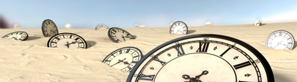 Clocks in sand
