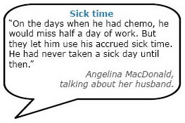 Quote about sick time