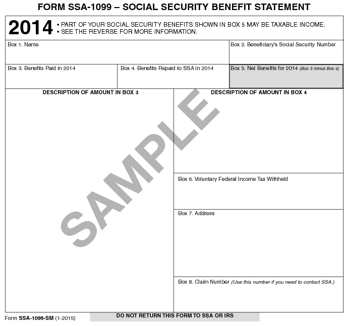 Lost Your Social Security Benefits Tax Form Charting Your