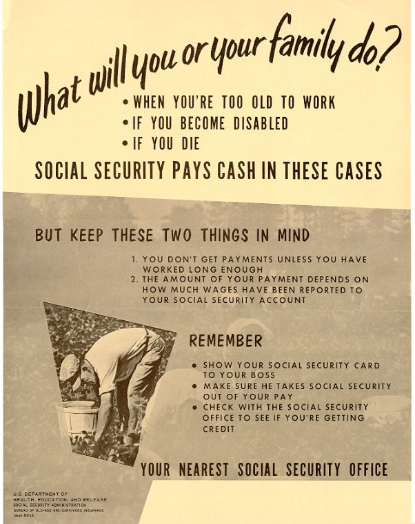 Social Security Administration poster, 1956