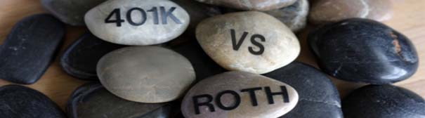 Rocks that say 401s vs Roth