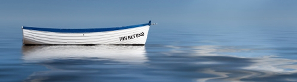 "Boat that says ""Tax refund"""