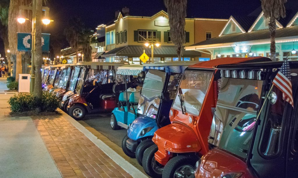 Photo of golf carts in a row