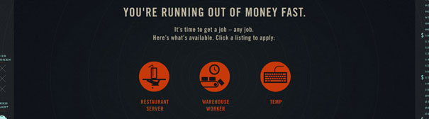 You're running out of money fast - here are your options Waiter, Warehouse Worker, Temp