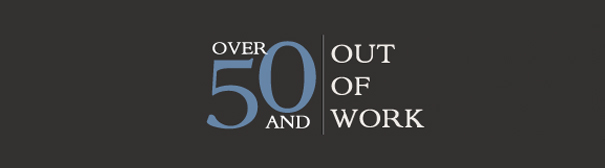 Over 50 and out of work logo.