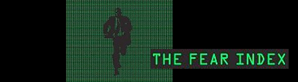 """A cartoon of a man in a suit running - titled """"The Fear Index"""""""