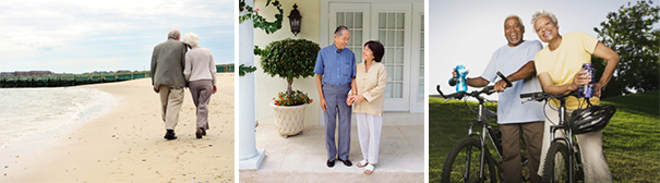 Photo of elderly couples