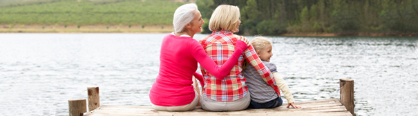Photo of generation: Grandmother, mother, daughter