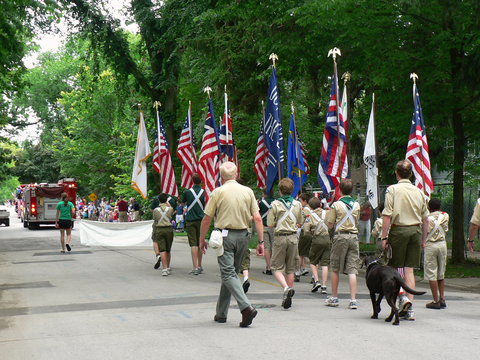 Photo of boy scouts marching