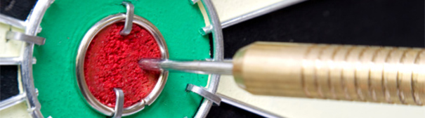 Picture of a bullseye on a dart board