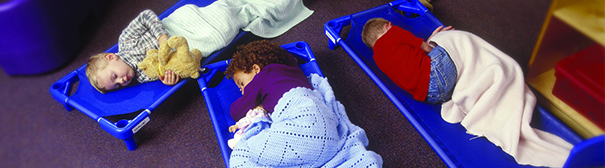 Kids sleeping at daycare