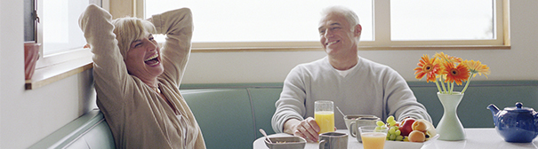 couple at breakfast