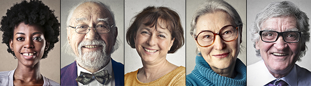 Portraits of older people