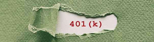 401k in typewriter font