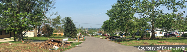 Photo of tornado damage in Beavercreek, OH