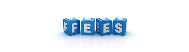 "Art of Dice that spell out the word ""fees"""