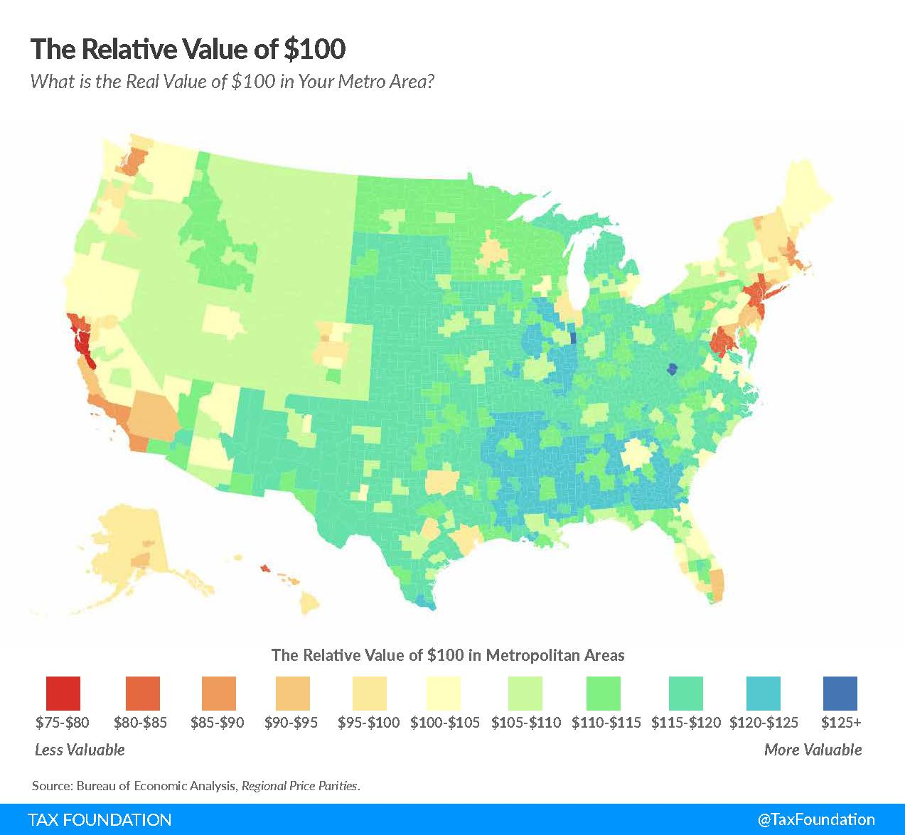 Map of cost-of-living
